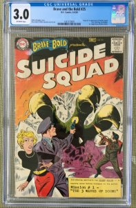 BRAVE AND THE BOLD #25 CGC 3.0 -- 1ST APP & ORIGIN SUICIDE SQUAD & RICK FLAG!