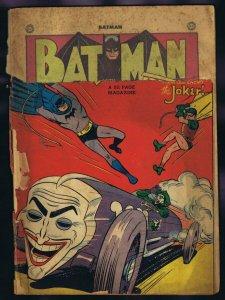 Batman #52 ORIGINAL Vintage 1949 DC Comics Joker Cover!