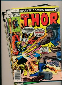 MARVEL LOT of 5- The Mighty THOR #270-274 1978 FAIR/GOOD (PJ91)