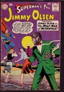 SUPERMAN'S PAL JIMMY OLSEN #44 1960-WOLF MAN HORROR COV VG