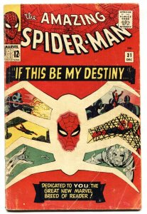 AMAZING SPIDER-MAN #31 MARVEL COMICS 1st Gwen Stacy SILVER-AGE vg-