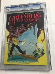 Marvel Graphic Novel 20 Greenberg The Vampire Cgc 9.8 White Pages