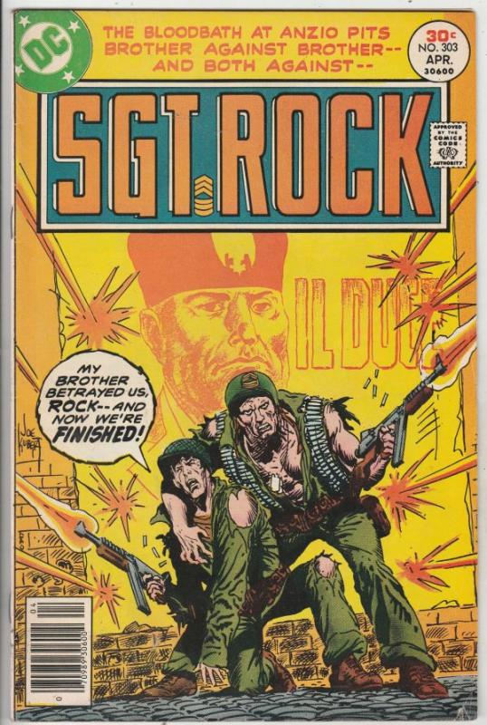 Sgt. Rock #303 (Apr-77) FN+ Mid-High-Grade Sgt. Rock, Easy Co.