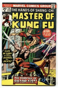 Master of Kung Fu #29 1975 comic book 1st appearance of Razor-Fist