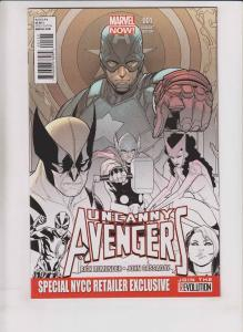 Uncanny Avengers #1 VF/NM special NYCC retailer exclusive variant - remender