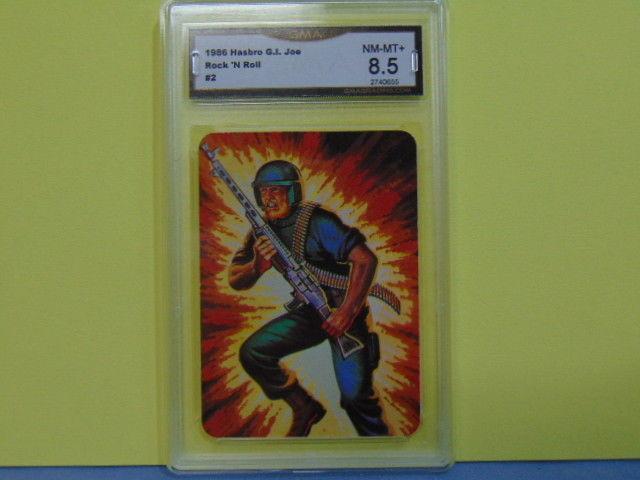 1986 Hasbro GI G.I. Joe #2 Series 1 Rock 'N Roll Machine Gunner - Graded 8.5 MT