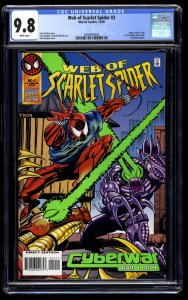 Web of Scarlet Spider #2 CGC NM/M 9.8 White Pages