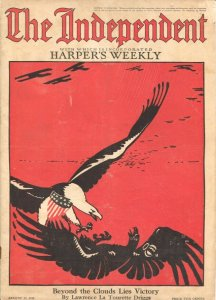 The Independent 8/17/1918-WWI issue 100+ years old-incorporates Harper's Week...