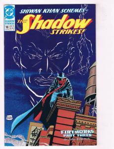 The Shadow Strikes #10 VF DC Comics Comic Book Jones June 1990 DE38 AD11