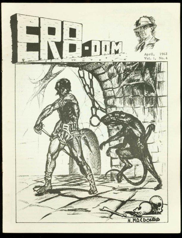 ERB-Dom #4 1962-TARZAN/EDGAR RICE BURROUGHS FANZINE FN