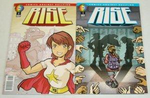 Rise #1-2 VF/NM complete series - comics against bullying - howard chaykin set