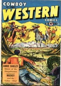 COWBOY WESTERN #39-ANNIE OAKLEY-JESSE JAMES-SITTING BULL-1952-CHARLTON