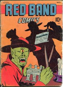 Red Band #3 1945-Captain Wizard-Impossible Man-Bruce Elliott-G