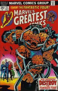 Marvel's Greatest Comics #51 FN; Marvel | save on shipping - details inside