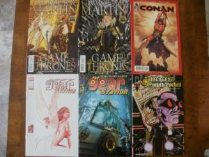 6 Comic Book: GAME OF THRONES #16 #18 GEAR STATION #1 #4 CONAN #1 OBERGEIST #1