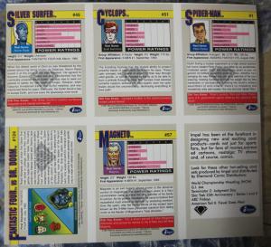 Marvel Universe Uncut Card Sheet #5- Diamond Previews Exclusive1991Spider Man