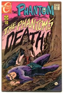 THE PHANTOM #33 1969-CHARLTON COMICS-DEATH COVER-APARO FN/VF