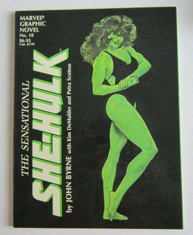 Marvel Graphic Novel #18 The Sensational She-Hulk FN/VF 1st Print John Byrne