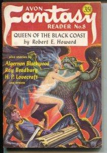 Avon Fantasy Reader #8 1948-Ray Bradbury-Robert E Howard-Conan-FN