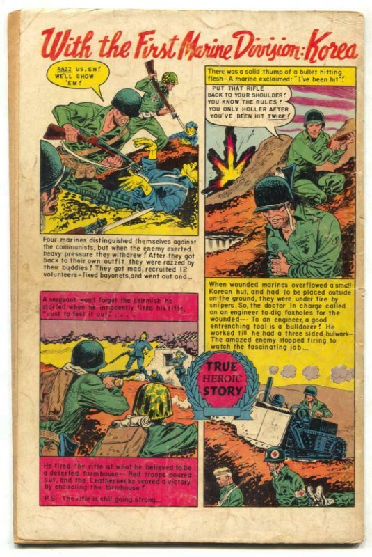 Famous Funnies #204 1953- War cover- Dickie Dare VG-