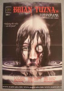 HORRORAMA Promo Poster, Brian Yuzna, 13x19, Unused, more Promos in store