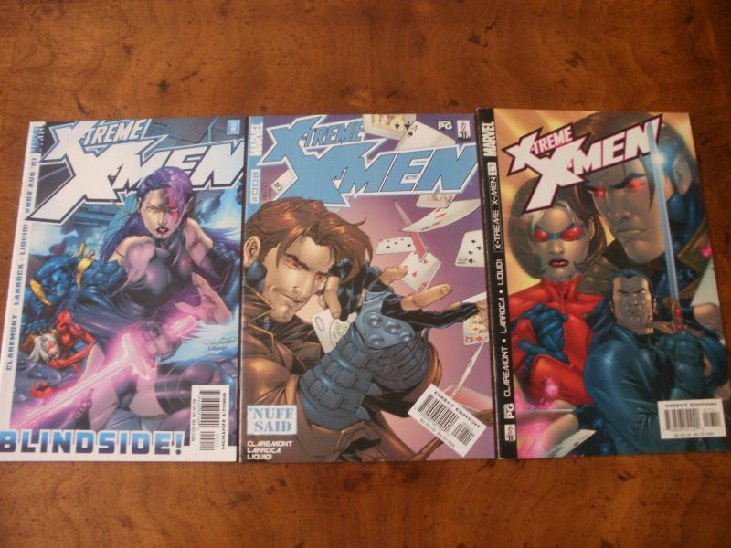 X-treme X-men #2 #8 #17 (Marvel) 2001 2002 Claremont Larroca