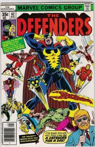 DEFENDERS #62, VF/NM, Hulk, HellCat, Valkyrie, Nova, Iron Fist, 1972 1978