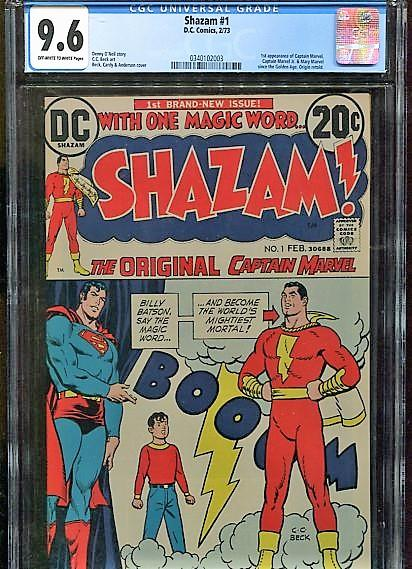 SHAZAM  #1  CGC  9.6  OW/W PAGES (1973)   SUPER HIGH GRADE  DC BRONZE KEY