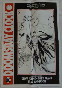 DOOMSDAY CLOCK  Promo Poster , 15 x 22,  2017, DC, SUPERMAN Unused 090