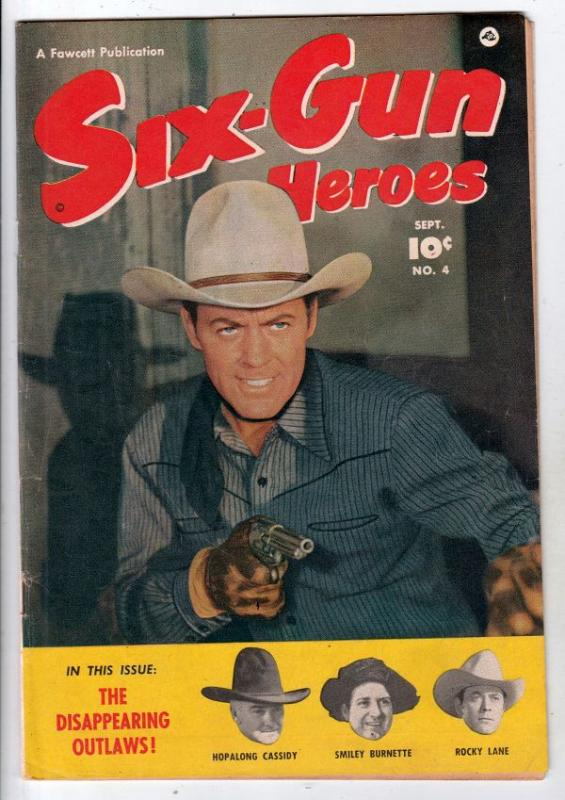 Six-Gun Heroes #4 (Sep-50) FN/VF+ Mid-High-Grade Hopalong Cassidy, Rocky Lane...