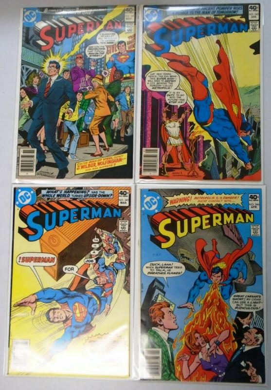Superman Comic Lot From:#306-346, 20 Different, Average 6.0/FN (1976-1980)