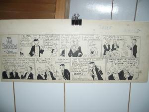 RUSS WESOVER- VAN SWAGGERS ORIGINAL COMIC ART 3-24-1929 VG