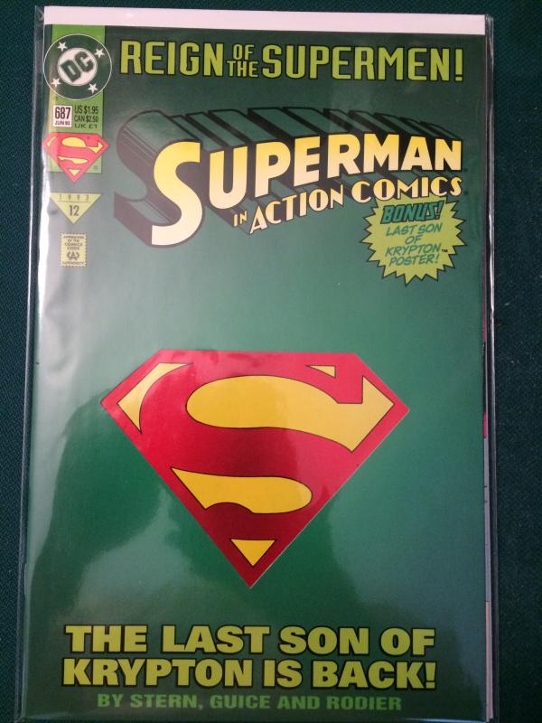 Superman In Action Comics #687 Reign of the Supermen!