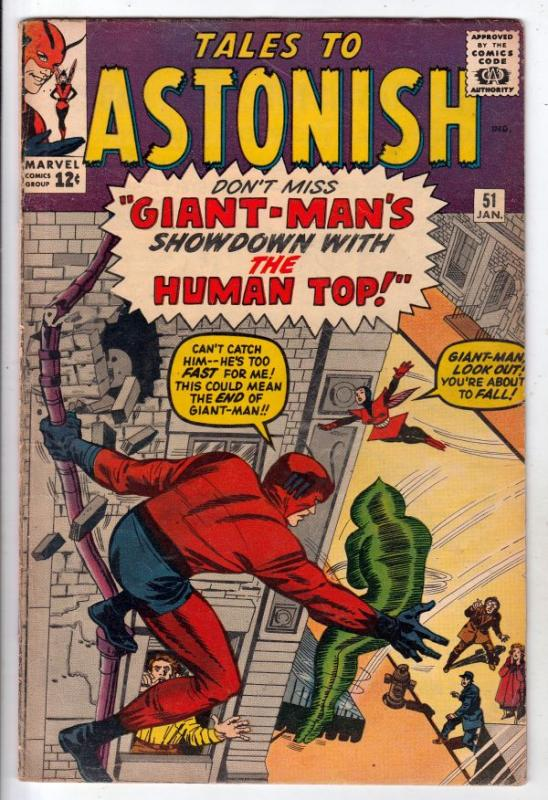 Tales to Astonish #51 (Jan-64) FN- Mid-Grade Giant-Man, the Wasp