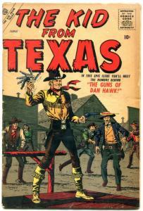 The Kid From Texas #1 1957- Atlas Western- Alamo- Origin issue- VG-