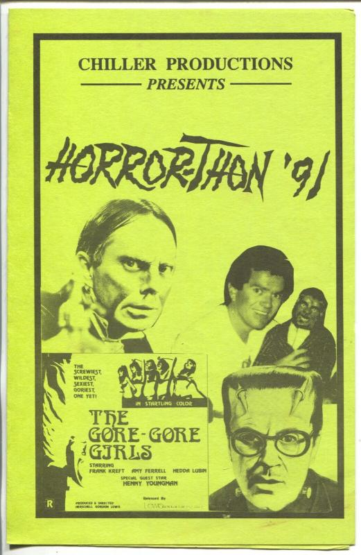 Horror-Thon Convention Program-1991-FN