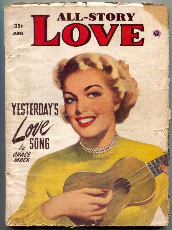All-Story Love Pulp June 1952- Yesterday's Love Song G/VG