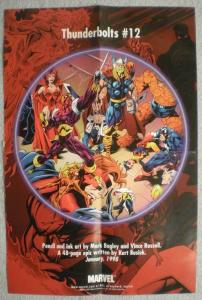 THUNDERBOLTS Promo poster,Thor, 12x18, 1997, Unused, more Promos in store