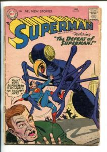 SUPERMAN -#110-1957-DC-ATTACK OF THE GIANT ANTS-good+