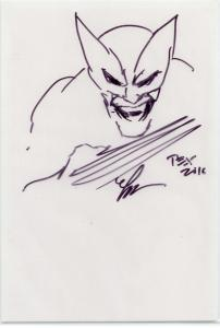 SKETCH by MARK TEXEIRA + Signed copy of Sabertooth #3  NM+ 9.6 w/sketch on cover