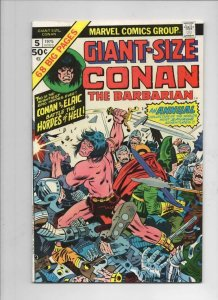 GIANT-SIZE CONAN #5, FN, Barry Smith, Elric StormBringer, 1975, more in store