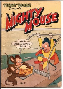 Mighty Mouse #7 1949-mouse trap cover-FN
