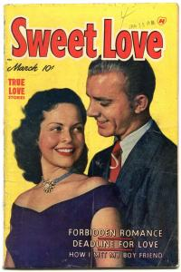 Sweet Love #4 1950- Golden Age Harvey Romance- Forbidden Romance VG+