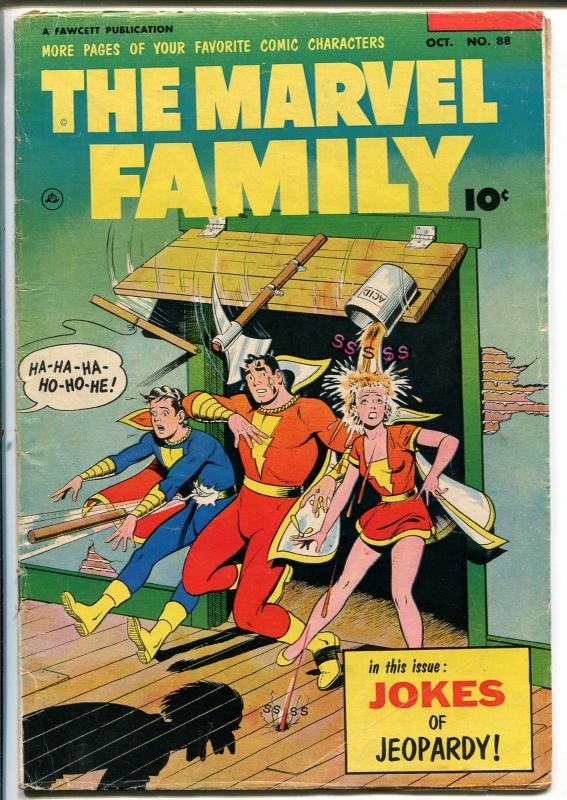 Marvel Family #88 1953-Fawcett-Capt Marvel-Mary Marvel-Capt Marvel Jr-VG