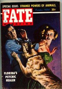 FATE-1954-Oct-PULP-Mystery-Exploitation-Strange-VIRGIL FINLAY German Shepherd at