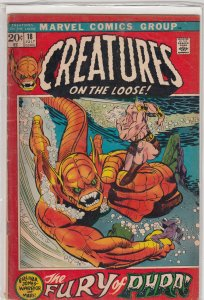 Creatures on the Loose #18 (1972) VG/GD