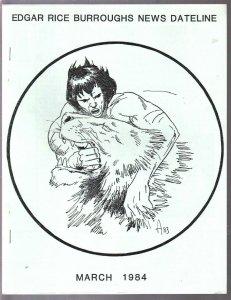 Edgar Rice Burroughs News Dateline #14 1984-Tarzan-ERB-pix-Weissmuller-VF