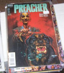 preacher  #55 vertigo dc 1999 garth Ennis high quality  PAINTED COVER BY FABRY
