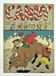 Candy Comics #1 (Fall 1944, Wm. H. Wise & Co.) Basil Wolverton art FN- 5.5