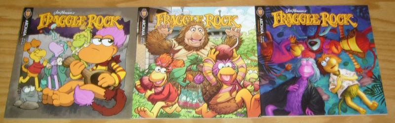 Jim Henson's Fraggle Rock v2 #1-3 VF/NM complete series ALL A VARIANTS lot set 2